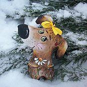 Куклы и игрушки handmade. Livemaster - original item Fortune told by a Daisy.... Coffee dog. Painting.. Handmade.