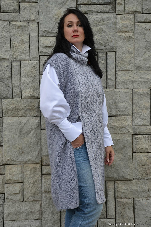 даже жилетка женская длинная фото вязание заказ будет