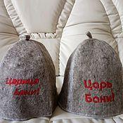 Одежда ручной работы. Ярмарка Мастеров - ручная работа Шапка для бани из натуральной овечьей шерсти (войлок). Handmade.