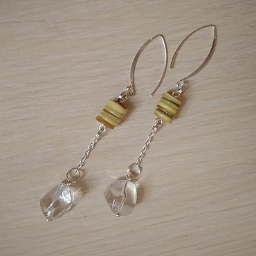 Decorations handmade. Livemaster - original item The smell of the resin and the tears of the wind. Long earrings.. Handmade.