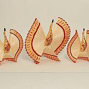 Русский стиль ручной работы. Ярмарка Мастеров - ручная работа Расписные птицы счастья. Мезенская роспись.. Handmade.