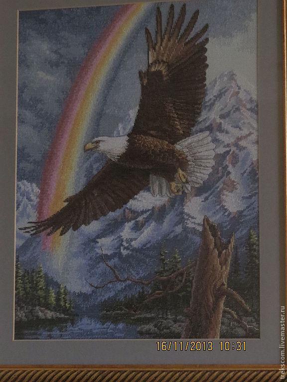 Купить вышивку крестом орел