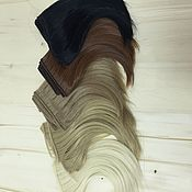 Волосы для кукол ручной работы. Ярмарка Мастеров - ручная работа Трессы прямые 15 см в ассортименте. Handmade.