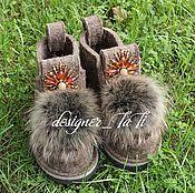 """Обувь ручной работы. Ярмарка Мастеров - ручная работа Валенки, модель """"Медовые"""". Handmade."""