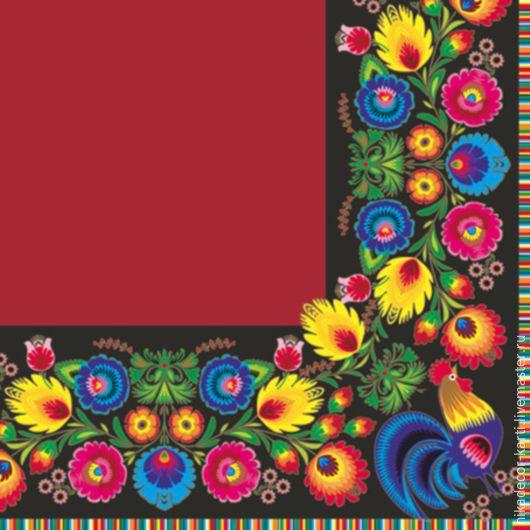 Декупаж и роспись ручной работы. Ярмарка Мастеров - ручная работа. Купить Яркие перышки и петушок 2 (SLOG016802) - салфетка для декупажа. Handmade.