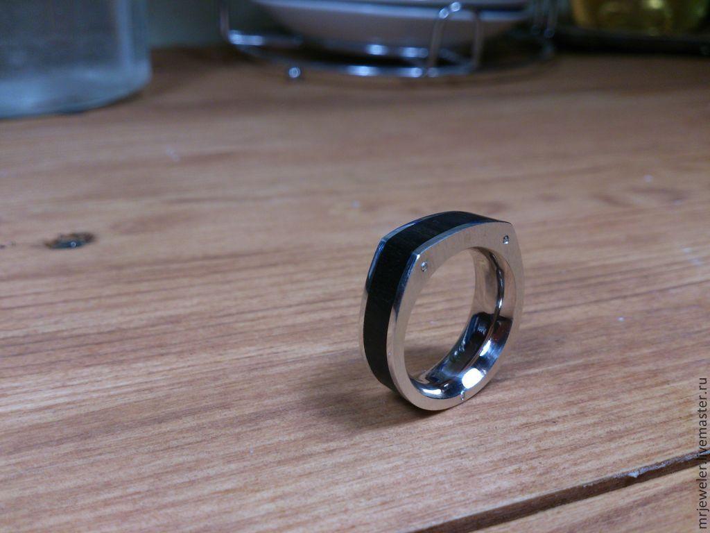 Кольца ручной работы. Ярмарка Мастеров - ручная работа. Купить перстень мужской 'эбен'. Handmade. Перстень, дорогой подарок, Болт
