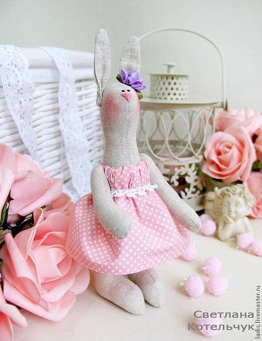 """Куклы Тильды ручной работы. Ярмарка Мастеров - ручная работа. Купить Тильда зайка """"Мамина радость"""" рост 19 см.. Handmade."""