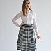 Одежда handmade. Livemaster - original item striped skirt, warm knit. Handmade.