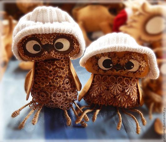 Ароматизированные куклы ручной работы. Ярмарка Мастеров - ручная работа. Купить Кофейные совята. Handmade. Коричневый, ароматизированная игрушка, кружево