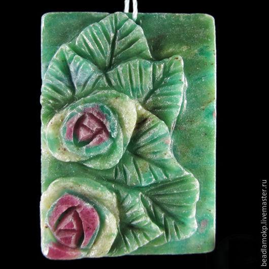Для украшений ручной работы. Ярмарка Мастеров - ручная работа. Купить Кулон из фуксита Розовый куст. Handmade. Комбинированный
