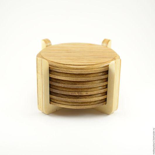 Кухня ручной работы. Ярмарка Мастеров - ручная работа. Купить Набор костеров 6шт. Handmade. Коричневый, фрезеровка, тиковое масло