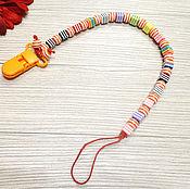 Работы для детей, ручной работы. Ярмарка Мастеров - ручная работа Держатель  для соски, игрушки, грызунка. Handmade.