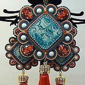 Украшения ручной работы. Ярмарка Мастеров - ручная работа Серьги и кулон с кистями. Handmade.
