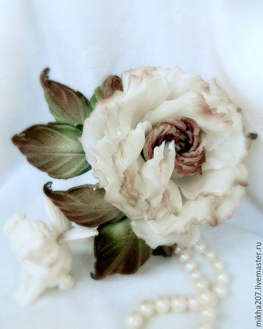 """Свадебные украшения ручной работы. Ярмарка Мастеров - ручная работа. Купить """"Vintage rose"""" из японских тканей.. Handmade. Бежевый"""