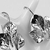 Материалы для творчества handmade. Livemaster - original item Shvenzy matte, silvery Leaves art. 3-1. Handmade.