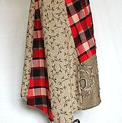 Одежда ручной работы. Ярмарка Мастеров - ручная работа Юбка теплая ассиметричная Бохо стиль. Handmade.