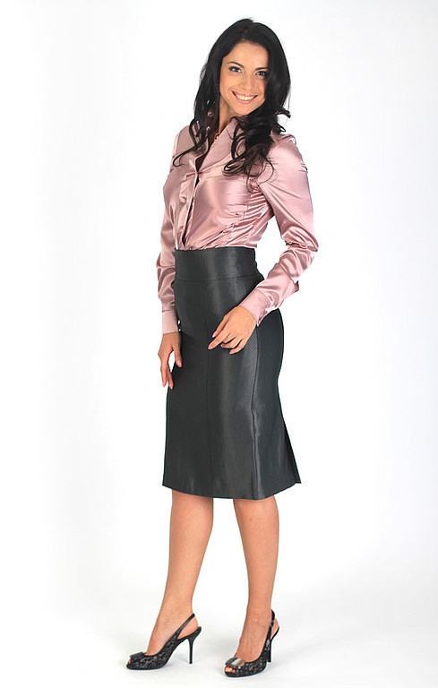 Skirts handmade. Livemaster - handmade. Buy The skirt is straight - Silver grey.Skirt, skirt classic