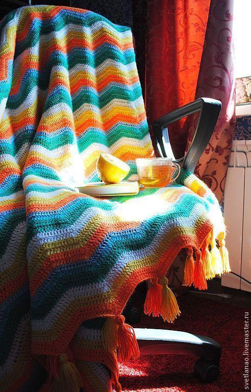 """Текстиль, ковры ручной работы. Ярмарка Мастеров - ручная работа. Купить Покрывало-плед """"Лето! Ах, лето"""". Handmade. Покрывало"""