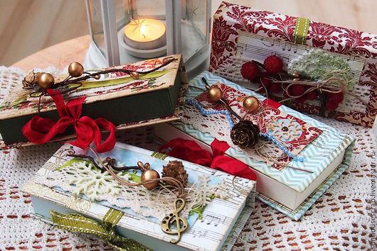 Новый год 2017 ручной работы. Ярмарка Мастеров - ручная работа. Купить Новогодние коробочки для подарков. Handmade. Новый год 2015