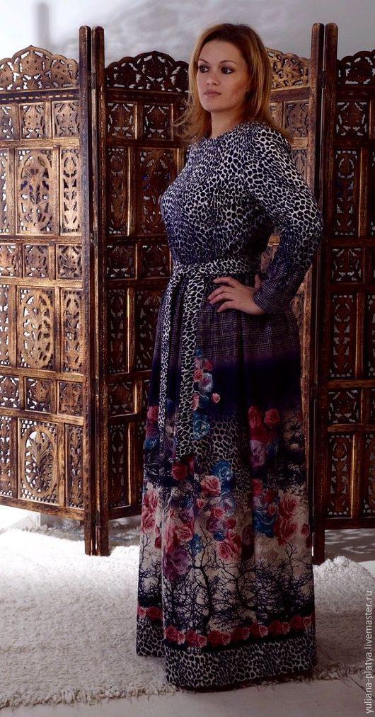 Платья ручной работы. Ярмарка Мастеров - ручная работа. Купить платье `Загадочные розы`. Handmade. Платья. Платье тёплое.