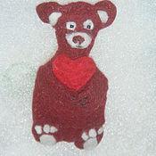 Работы для детей, handmade. Livemaster - original item Brooch felted Bear. Handmade.