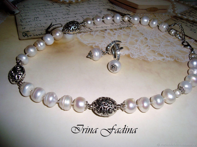 455d222c835 Jewelry Sets handmade. Livemaster - handmade. Buy Set of Baroque pearls  necklace