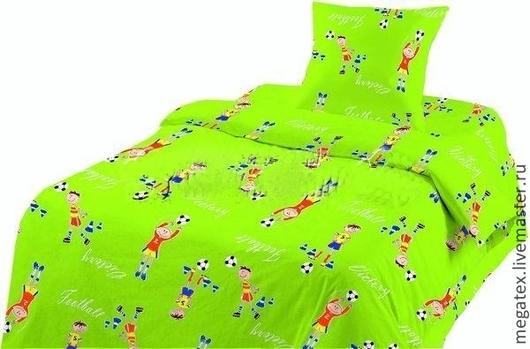 ткань для постельного белья бязь Футбол. МегаТекс. Шитье
