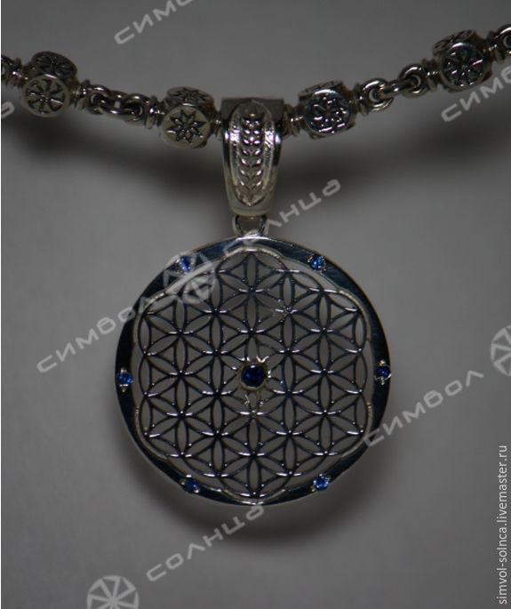 THE FLOWER OF LIFE WITH STONE (25MM), Amulet, Sochi,  Фото №1