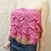 Одежда handmade. Livemaster - original item The skirt and top, crochet openwork pattern with ruffles. Handmade.