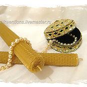 Сувениры и подарки handmade. Livemaster - original item Candle from wax, high. Handmade.