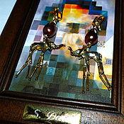 """Украшения ручной работы. Ярмарка Мастеров - ручная работа Серьги """"СЛОНИКИ ДАЛИ"""" -82, серебро 925 с позолотой, жемчуг барочный. Handmade."""