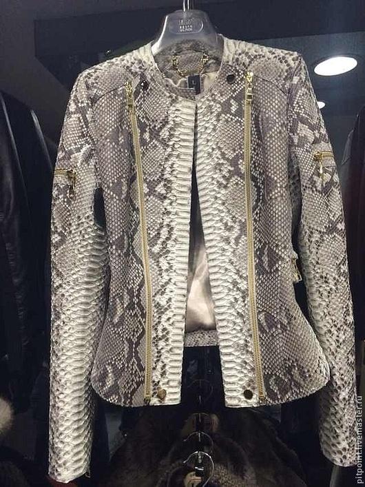 Верхняя одежда ручной работы. Ярмарка Мастеров - ручная работа. Купить Куртка из питона. Handmade. Серый, куртка женская