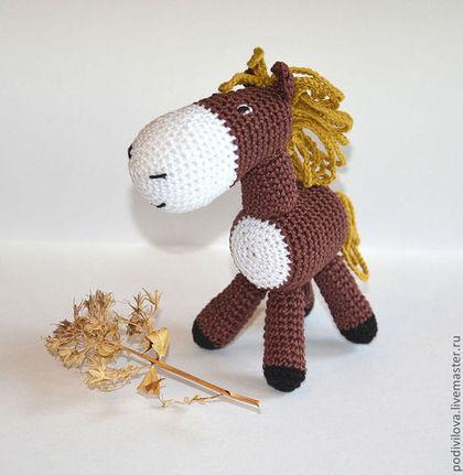 Игрушки животные, ручной работы. Ярмарка Мастеров - ручная работа Лошадка, вязаная игрушка,(лошадь-игрушка,конь),амигуруми. Handmade.