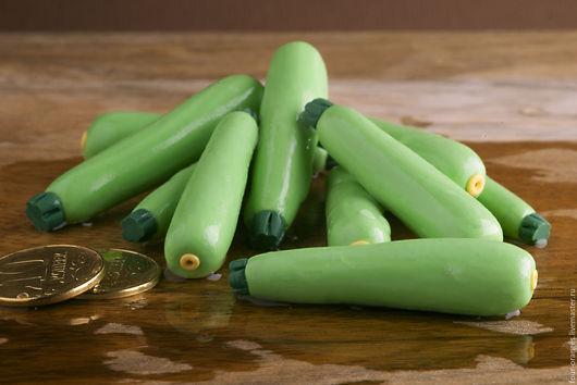 Еда ручной работы. Ярмарка Мастеров - ручная работа. Купить Кабаки зеленые. Handmade. Игрушечная еда, кукольная еда, игрушки