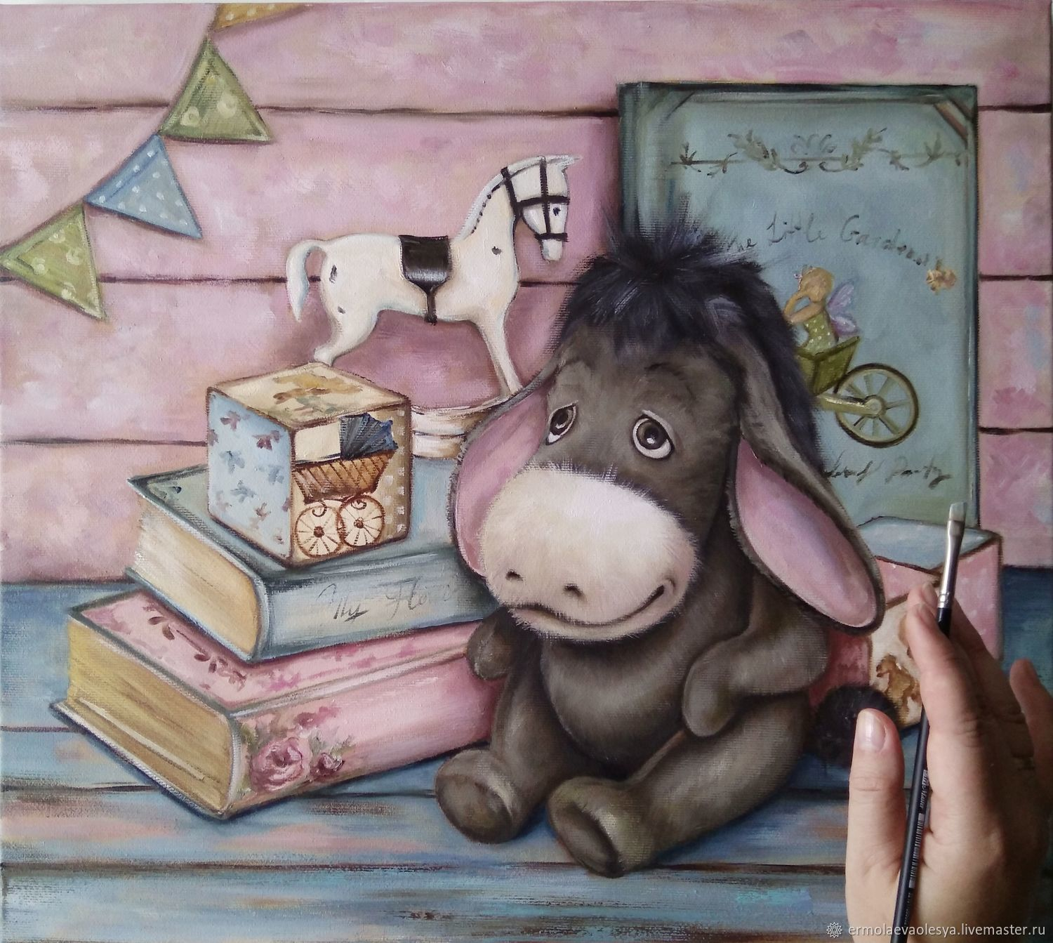 Oil painting with a donkey Teddy Eeyore, Pictures, Zhitomir,  Фото №1