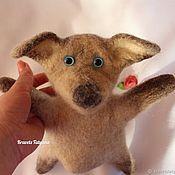 Куклы и игрушки handmade. Livemaster - original item Felt toy, doll glove of bibabo dog. Handmade.