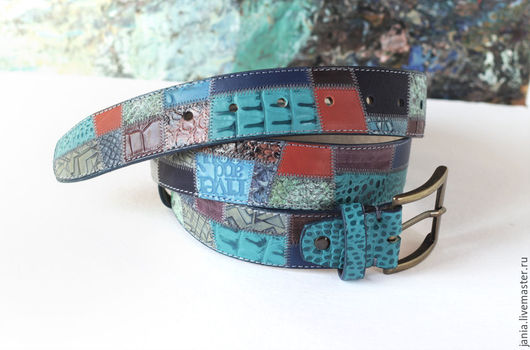 Belts handmade. Livemaster - handmade. Buy Leather Mood.Bright, a leather belt, buy gift girl, genuine leather