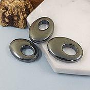 Материалы для творчества handmade. Livemaster - original item Hematite suspension 25x18x6 mm (5334). Handmade.