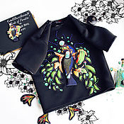 """Одежда ручной работы. Ярмарка Мастеров - ручная работа Топ неопрен """"Райские птицы 3D"""". Handmade."""