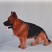 Немецкая овчарка (из войлока-сухое валяние)