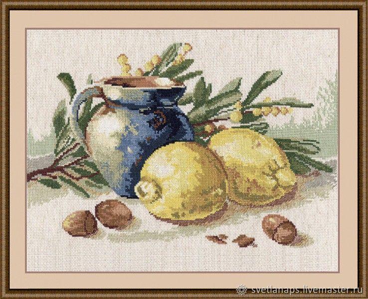 """Набор для вышивания: """"Натюрморт с лимонами"""", Схемы для вышивки, Белгород,  Фото №1"""