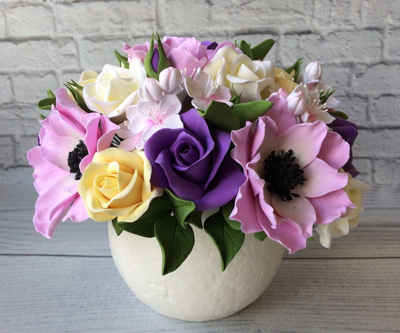 Закоржанская букеты из глины декора, цветов ленинградская