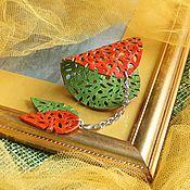 Украшения handmade. Livemaster - original item Leather bracelet Vitamin. Handmade.