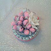 """Цветы и флористика ручной работы. Ярмарка Мастеров - ручная работа Торт из конфет """"Морская жемчужина"""", букет, подарок любимой, девушке. Handmade."""