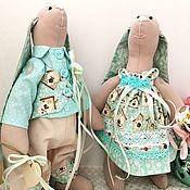 Куклы и игрушки handmade. Livemaster - original item A couple of hares interior toys, a gift for a wedding anniversary. Handmade.