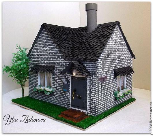 Кукольный дом ручной работы. Ярмарка Мастеров - ручная работа. Купить Миниатюрный домик для Мишутки.. Handmade. Комбинированный, дом, минимишка