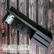 Для дома и интерьера handmade. Livemaster - original item Black wall-mounted housekeeper. Handmade.