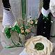 Набор свадебных аксессуаров  Изумрудно-бежевый.   Анастасия   (Decor-art)