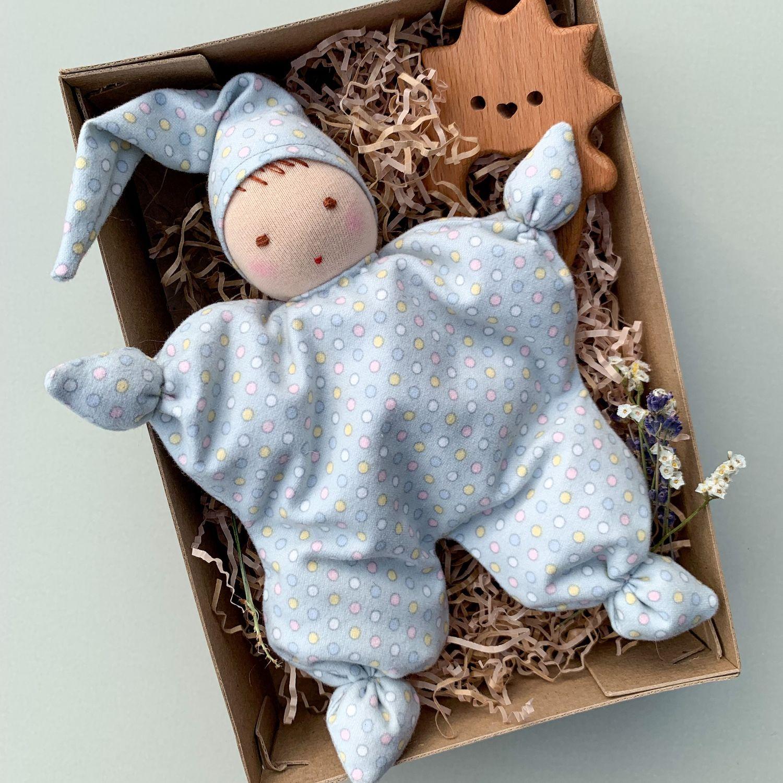 Кукла сплюшка вальдорфская Грызунок из дерева Подарок новорождённому, Вальдорфские куклы и звери, Самара,  Фото №1