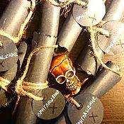 """Открытки ручной работы. Ярмарка Мастеров - ручная работа Приглашение на день рождение """"Метка"""" в пиратском стиле. Handmade."""